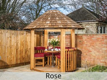 Rose Luxury Wooden Gazebo